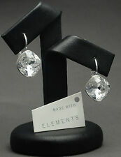 Silver Plated Earrings made with Swarovski Crystals SHEENA *CRYSTAL* 12mm