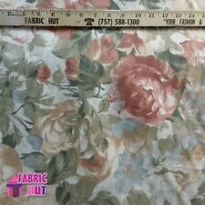 Home Decor Large Roses Multi Color Floral Heavy Upholstery Fabric by the Yard