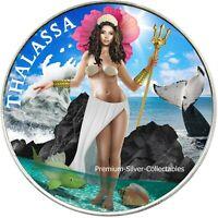 2021 USA Trident Silver Thalassa Coin - Silver Colorized!!