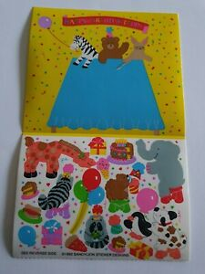 Vintage Sandylion Maxi Activity Sticker Party Animals