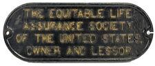 Antique Locomotive Rr Lessor Iron Plaque Lot 25B