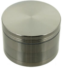 "2.5"" Tobacco Herb Grinder Spice Herbal 4 Pc Metal Chromium Alloy Smoke Crusher"