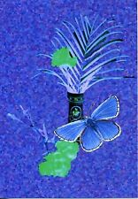 ADONIS BLUE BUTTERFLY POSTCARD PRINTED IN SCOTLAND by SELF REP' ARTIST FREE P&P