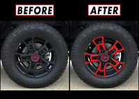 """Redout Blackout Overlay for 2014-21 Toyota Tundra 18"""" TRD Wheel Rim Full Spoke"""