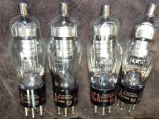 NOS MATCHED QUAD RCA 1603 POWER TUBES 4 PIECES * PERFECT SHAPE VINTAGE USA MADE