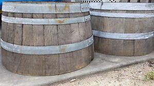 Authentic Rustic Used Half Wine Barrel - PRICE REDUCTION
