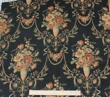 French Antique Home Printed c1850-1860 Roses & Urn Napoleon III Cotton Fabric*