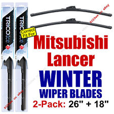 WINTER Wiper Blades 2pk Premium - fit 2008-2015 Mitsubishi Lancer - 35260/180