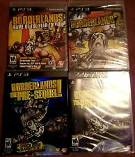 PS3 Borderlands 1 GotY, 2 & Pre-Sequel w/DLC NEW SEALED FULL COMPLETE COLLECTION