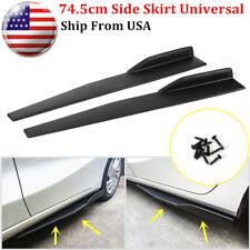 Pair 745cm Car Carbon Fiber Side Skirts Rocker Splitters Diffuser Winglet Wings Fits 2013 Honda Civic Si
