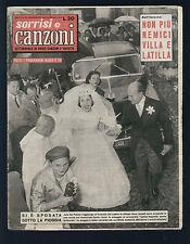 SORRISI E CANZONI 23/1957 DE PALMA CLAUDIO VILLA GINO LATILLA RONDINELLA LAINE