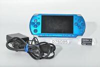 Very good SONY PSP-3000VB PSP 3000 Vibrant Blue Playstation portable 4GB 075085