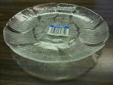 "PLATE 9"" CLEAR ARCOROC GLASS DINNER PLATE WEDDING FLORAL DESIGN/CATERER (SIX)"