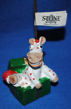 Peter Stone~2004~Horse & GiftBox~Christmas Ornament~New