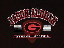 New Jason Aldean Tshirt Athens Georgia Black Country Music Football Style Medium