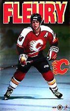 1995 Theoren Fleury Calgary Flames Original Starline Poster OOP
