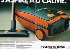 PUBLICITE ADVERTISING   1979   PARIS-RHONE   aspirateur aérospire (2 pages)