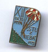 Polish Parachute pin / badge - skydiving Fallschirmjäger abzeichen 1975