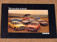1979-80 MAZDA RANGE Sales Brochure - RX7, Montrose, 2000 Estate, 323, B1800