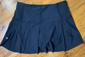 Lululemon Sz 6 Reg Lost In Pace Skirt - Black