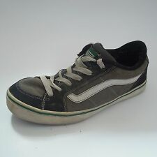 VANS Classic Transistor Casual Skate Shoes Mens 12 M Black Gray Leather Sneakers