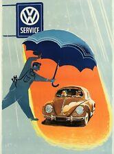 Vintage German Volkswagen Transporter Poster