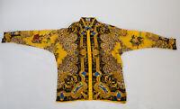 RARE Gianni Versace Mens Silk Baroque Shirt Pre-Death sz48 US S Near MINT