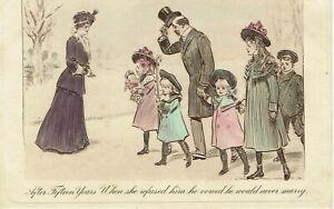 VINTAGE POSTCARD. COMEDY CARD. 1909.
