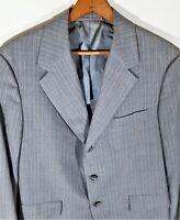 Vintage Hickey Freeman Wool Bespoke Pinstripe Blazer Sport Coat Jacket USA Sz 42