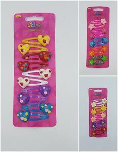 Chloe 10 Children's Heart Star Flower Hair Clips