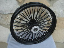 21X3.5 BLACK OUT FAT KING SPOKE DUAL DISC FRONT WHEEL HARLEY TOURING BAGGER 2000