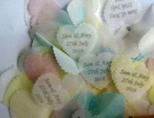 BOX of biodegradable TISSUE CONFETTI for up to 2 guests with own personalisation