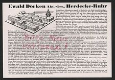 HERDECKE-RUHR, Werbung 1935, Ewald Dörken AG Industrie-Lacke