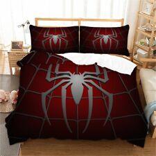 Spiderman Duvet Cover Set Super Hero Comforter Cover Pillowcase Fan Kids Bedding