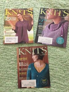 Interweave Knits 2007, 2010, 2012 Lot Of 3 - Knitting Patterns - Very Good Cond