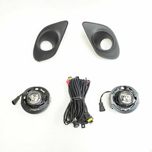 For 2015-2019 Dodge Charger SRT Clear LED Fog Light Kit with Switch Bezel Wire