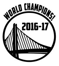 WORLD CHAMPIONS 2016 - 2017 GOLDEN STATE WARRIORS Vinyl Decal Sticker Bumper Car