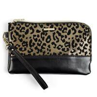 Juicy Couture Leopard Print/Black USB Phone Charging Wristlet Cosmetic Bag