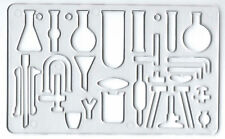CHEMISTRY SCIENCE TEST TUBE EXPERIMENT SYMBOLS STENCIL TEMPLATE SCHOOL COLLEGE