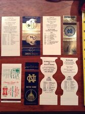 1983 1986 1979 1987 1992 Notre Dame Football Schedule Matchbook lot 8 Total