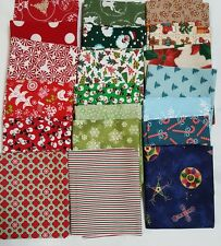 Lot of 20 fat quarters, 100% Cotton Quilting Fabric, high quality, Christmas