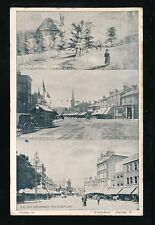 London EALING BROADWAY tri-view Used 1906 PPC  local pub by Wakefield