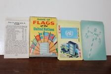 VINTAGE RUSSELL FLAGS OF THE UNITED NATIONS CARD GAME IN ORIGINAL BOX