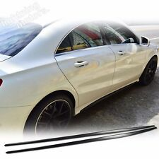 Unpainted For Mercedes BENZ CLA W117 Sedan SB Side Skirts Cover Add on 2016