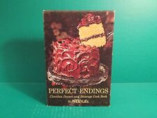 "Vintage 1962 Nestle's Perfect Endings ""Chocolate Dessert And Beverage"" Cookbook"