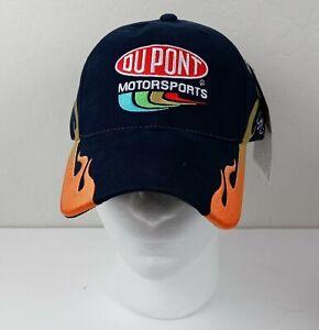 New DuPont Motorsports #24 Jeff Gordon NASCAR Ball Cap Adjustable Blue Flames