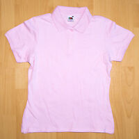 Fruit of the Loom Poloshirt Lady-Fit kurz Gr. S rosa Shirt Damen Polo Shirt Hemd