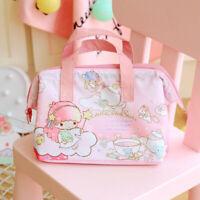 Cute Little Twin Stars Lunch Box Bag Storage Handbag Insulation Picnic Bag Gift