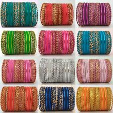 Fashion Kids Gold Tone Colored Indian Bangles 24pcs Set For Girl Kids All Sizes
