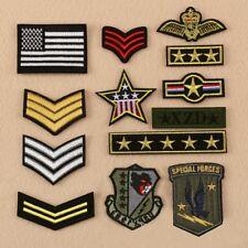 13 Teile / los Armee Military Insignia Rank Krieg Biker Appliques Tuch Patches